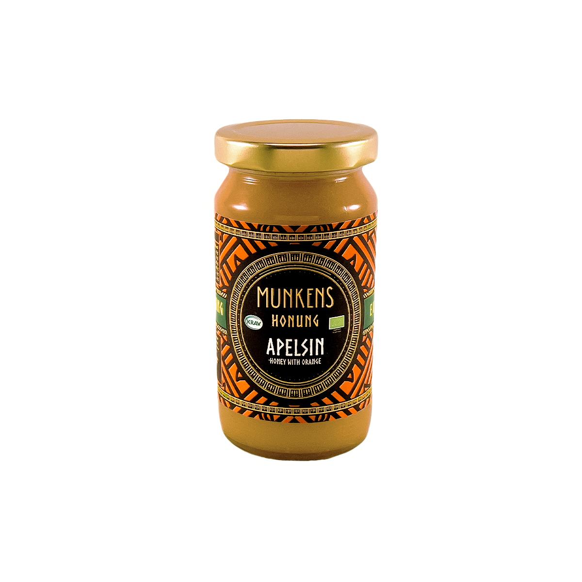 Munkens Honung – Kallrörd:Rå:Raw – Apelsin 280g