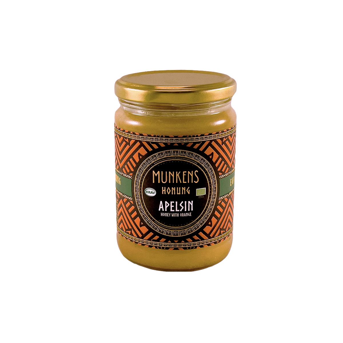 Munkens Honung – Kallrörd:Rå:Raw – Apelsin 500g